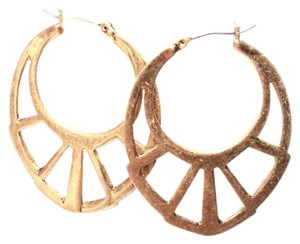 BCBGeneration oval cutout earrings antique gold style
