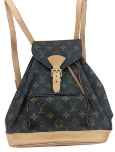 Louis Vuitton Montsouris Mm Canvas Backpack