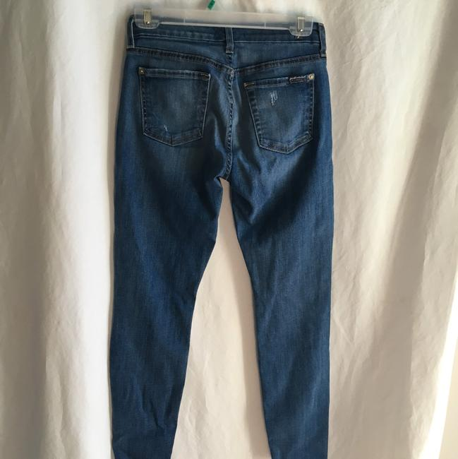 7 For All Mankind Ankle Patchwork Ankle Skinny Jeans-Medium Wash Image 9
