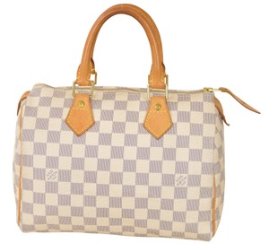 Louis Vuitton Azur Lv Damier Speedy 25 Speedy 25 Satchel in Damier Azur