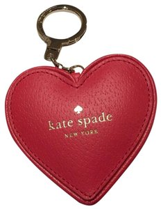 Kate Spade Kate Spade Heart Key Chain Fob Red Cherry Liqueur