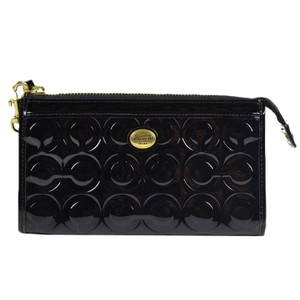 Coach Coach Peyton Op Embossed Patent Zippy Wallet