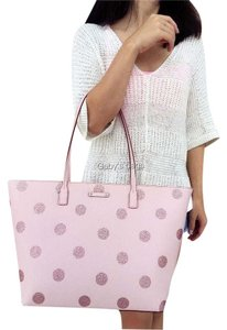 Kate Spade Down The Rabbit Hole Oops A Daisy Large Travel Tote in pINK