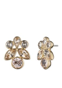 Givenchy Hazel Swarovski elements crystals Gold-Tone Button Earrings