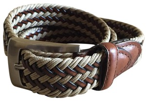Izod Woven Leather Belt
