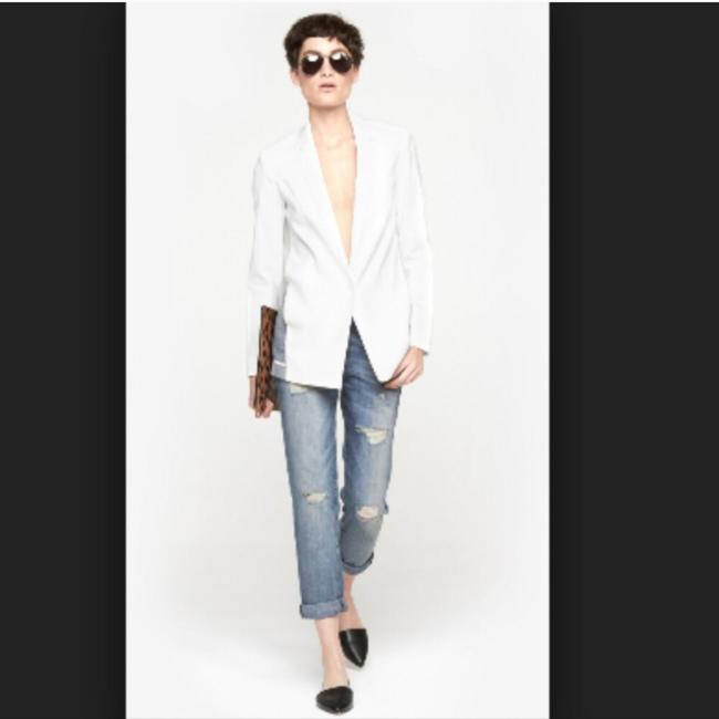 J Brand Sheer Linen Pop White Blazer Image 1
