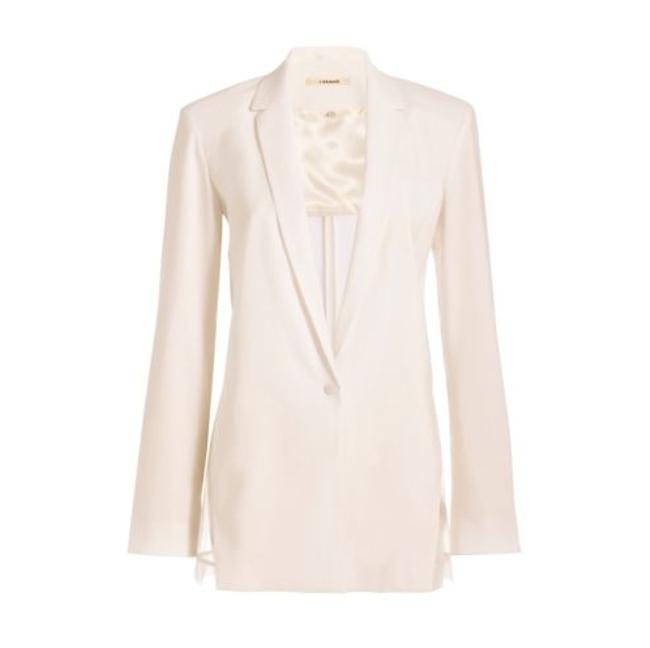 J Brand Sheer Linen Pop White Blazer Image 2