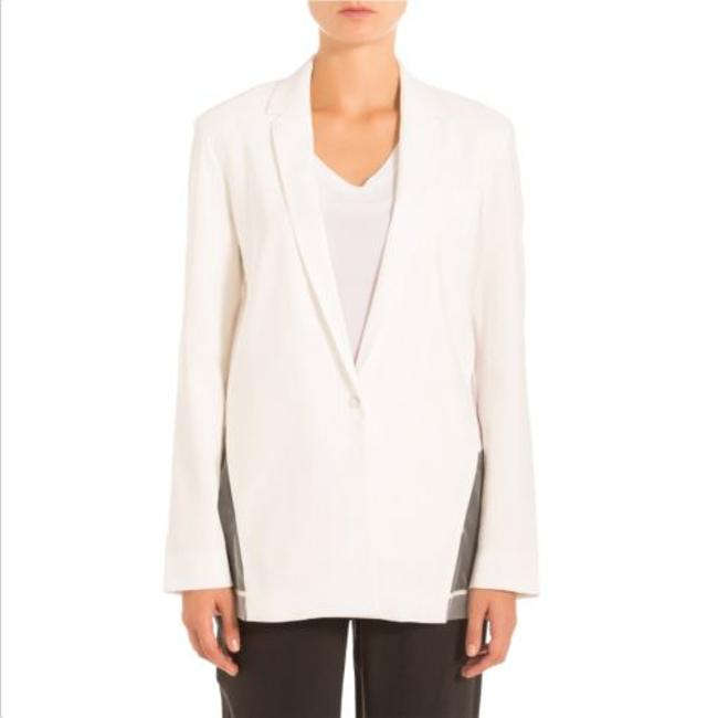 J Brand Sheer Linen Pop White Blazer Image 3