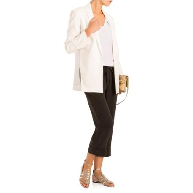 J Brand Sheer Linen Pop White Blazer Image 4