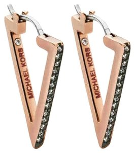 Michael Kors MICHAEL KORS MKJ4367 Triangle Motif Hoop Earrings Rose Gold Tone
