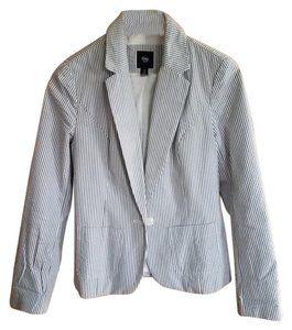 Gap White with grey stripe Blazer