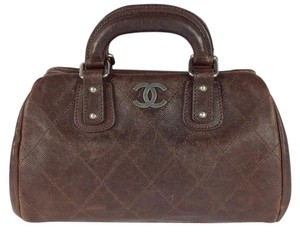 Chanel Medium Leather Medium Leather Satchel in brown