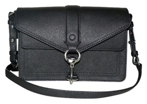 Rebecca Minkoff Hudson Leather Moto Mini Cross Body Bag