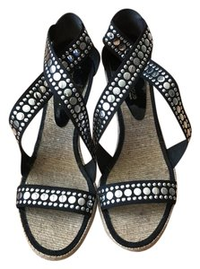 Andre Assous black Wedges