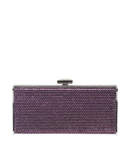 Judith Leiber Pink Silver-tone Pink,Silver Clutch