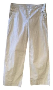 Chattawak Sailor Flat Front Wide Leg Straight Pants white with gray stripe