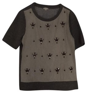 J.Crew Top grey and ivory