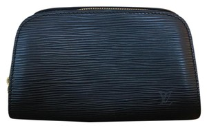 Louis Vuitton Black Epi Cosmetic Case Clutch