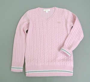 Gucci Pink Wool/Cashmere Sweater Top W/Script Web 3 270712 Groomsman Gift