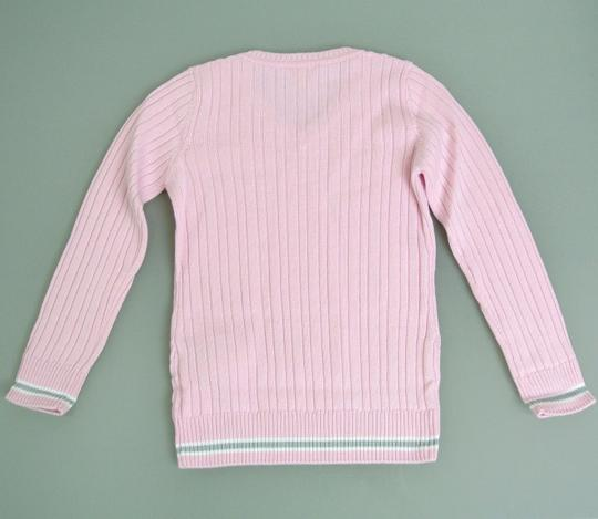 Gucci Pink W Wool/Cashmere Sweater Top W/Script Web 4 270712 Groomsman Gift Image 1