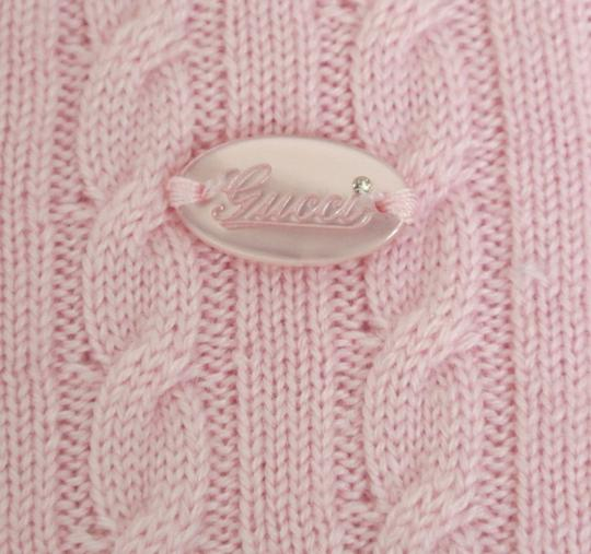 Gucci Pink W Wool/Cashmere Sweater Top W/Script Web 4 270712 Groomsman Gift Image 3