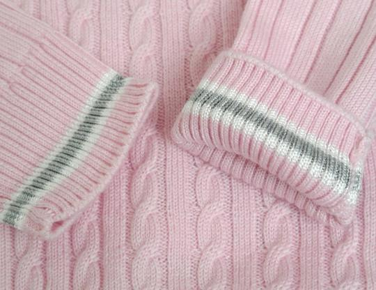 Gucci Pink W Wool/Cashmere Sweater Top W/Script Web 4 270712 Groomsman Gift Image 4