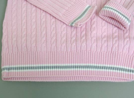 Gucci Pink W Wool/Cashmere Sweater Top W/Script Web 4 270712 Groomsman Gift Image 5