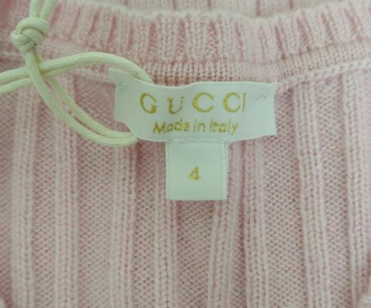 Gucci Pink W Wool/Cashmere Sweater Top W/Script Web 4 270712 Groomsman Gift Image 7