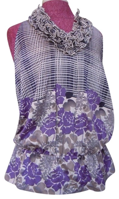 Preload https://item3.tradesy.com/images/the-limited-purple-grey-cream-and-black-blouse-size-8-m-2071412-0-0.jpg?width=400&height=650
