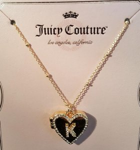 Juicy Couture Juicy Couture Gold Plated Heart Locket Letter