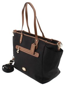 Coach F37758 Canvas Large Tote Brown Black Diaper Bag