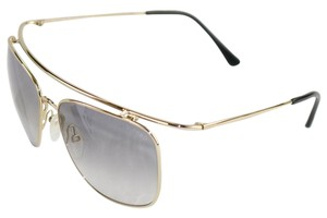 Tom Ford New-with-Case-Cloth Tom Ford Grey Gold Aviator Sunglasses TF192 28B