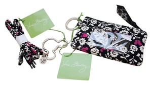 Vera Bradley mickey meets birdie Disney Zip ID coin Case and Lanyard