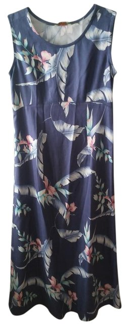 Blue Maxi Dress by Tommy Bahama Silk Summer Image 0