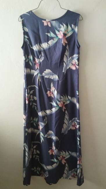 Blue Maxi Dress by Tommy Bahama Silk Summer Image 1