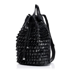Young Villagers Leather Ruffled Soft Backpack