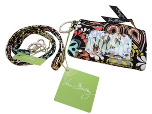 Vera Bradley ID zip coin case and lanyard in Sierra