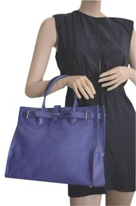 Furla Leather Tote in purple