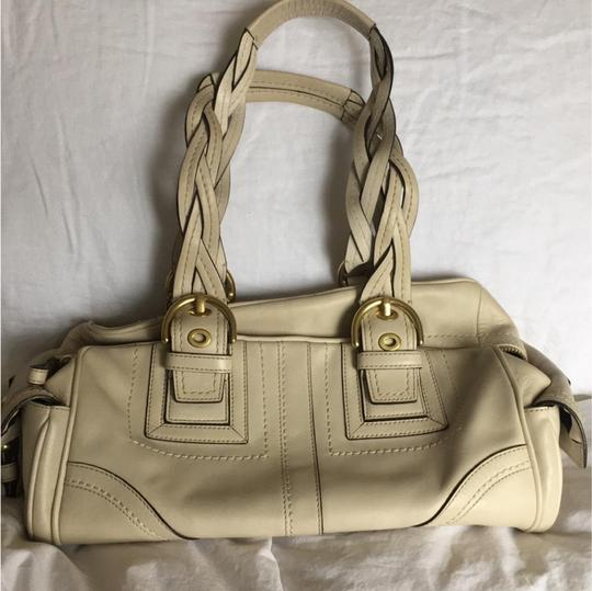Coach Rare Tote Leather Satchel in Cream Image 1