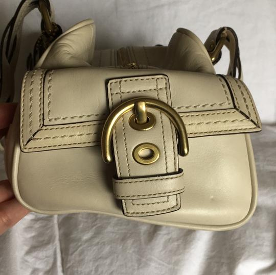 Coach Rare Tote Leather Satchel in Cream Image 2