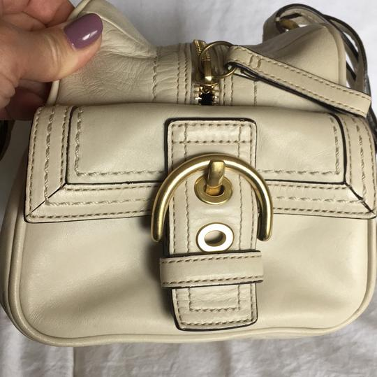 Coach Rare Tote Leather Satchel in Cream Image 3