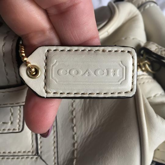 Coach Rare Tote Leather Satchel in Cream Image 9