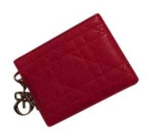 Dior Christian Dior Lambskin Leather Card Case Wallet