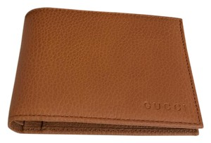 Gucci GUCCI NWT TAN/CARAMEL PEBBLED LEATHER MENS WALLET GREAT VALENTINES DAY