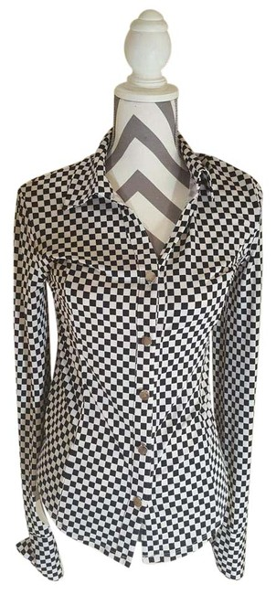 Preload https://img-static.tradesy.com/item/20714636/carmen-marc-valvo-checkered-black-and-white-collection-button-down-top-size-0-xs-0-1-650-650.jpg