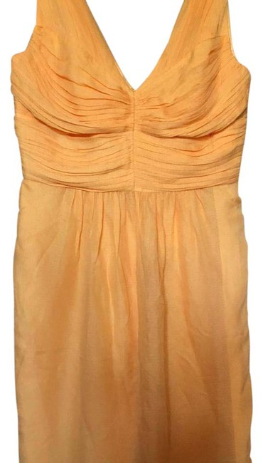 Preload https://img-static.tradesy.com/item/20714637/shoshanna-sherbert-pale-orange-silk-pleated-short-casual-dress-size-4-s-0-1-650-650.jpg