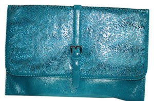 Other Laser-cut Ultra Chic Teal Clutch