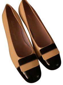 Salvatore Ferragamo black and yellow Flats