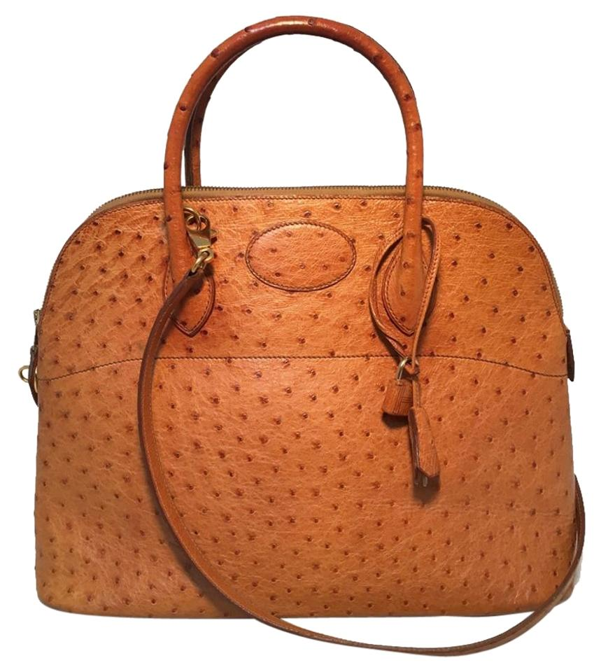 ba16009ccdb Hermès Bolide Bolide Bolide Ostrich Leather Vintage Tote in Tan Image 0 ...