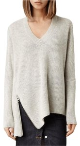 AllSaints Zipper Zip Chunky Sweater